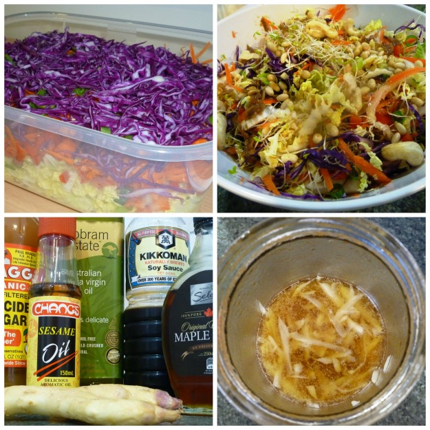 Cabbage Salad Collage