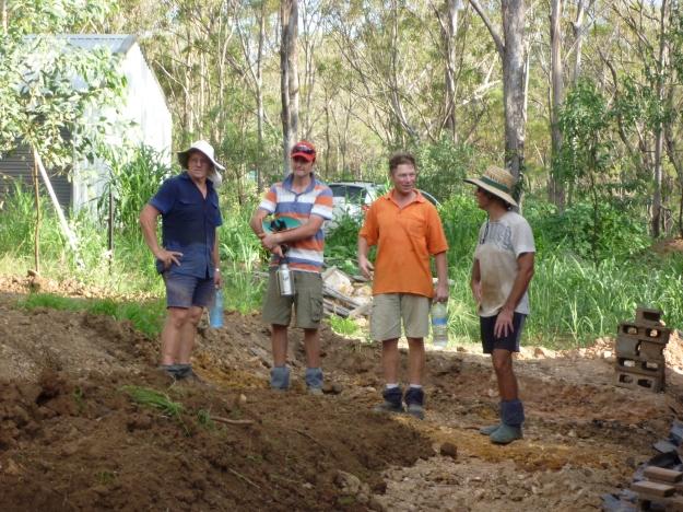 The Workers (LtoR) Brendan, Vlado, Cornelius, Jesus