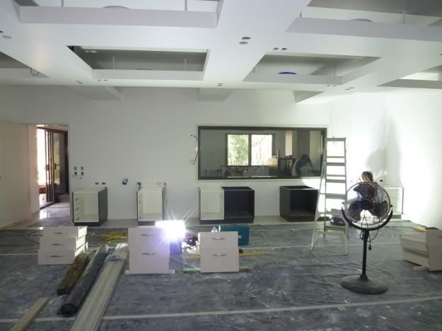 The studio takes shape